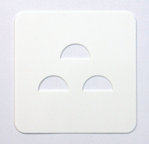 上から一列ごとに1枚ずつ、計3枚のカードを選ぶ